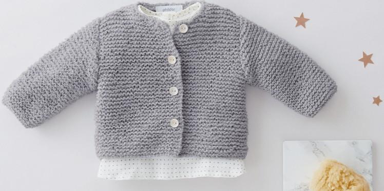Modele tricot bebe gratuit aiguille 4