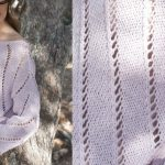Point ajouré tricot pull