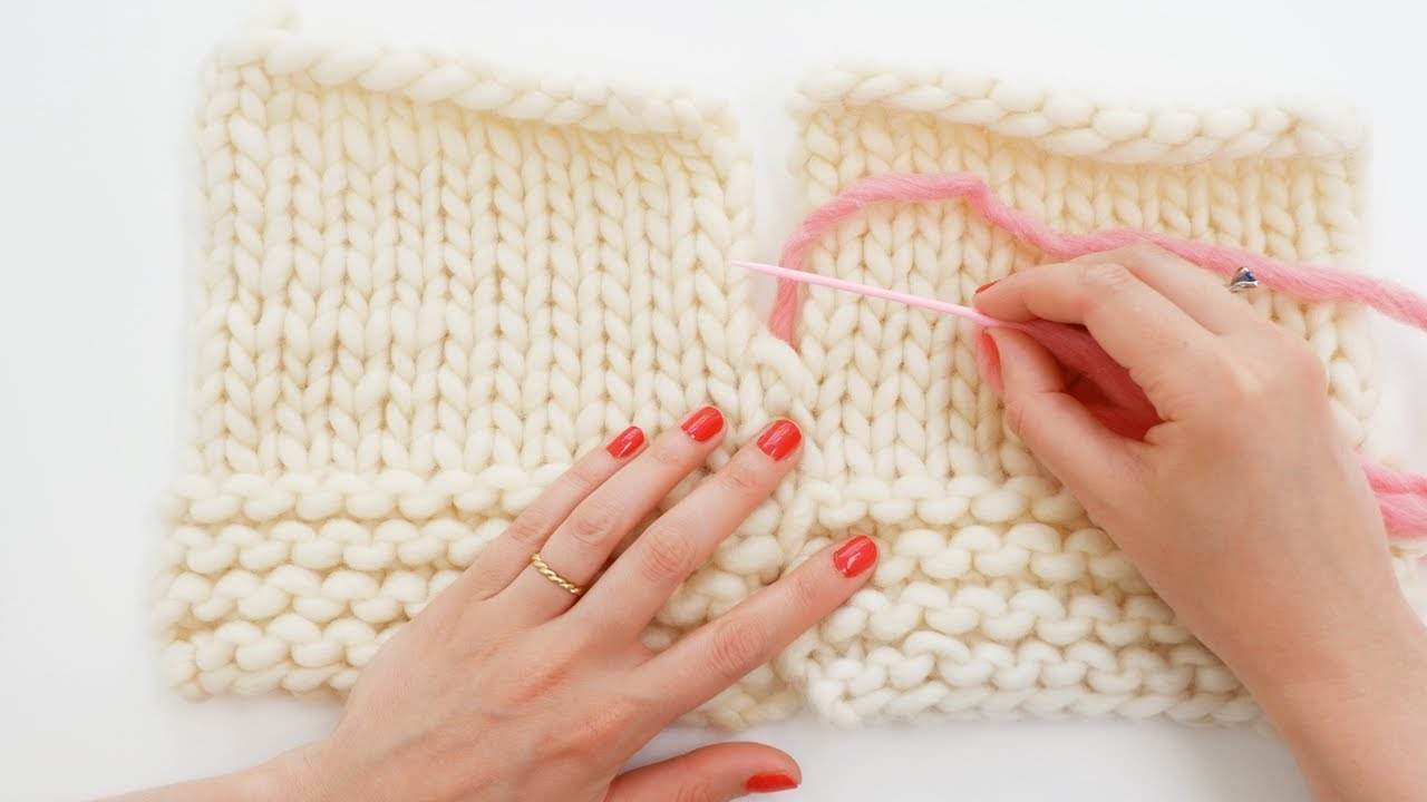 Tricot assemblage couture invisible