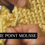 Assemblage tricot epaule point mousse