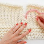 Assemblage tricot point invisible