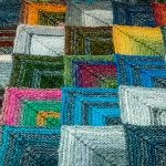 Tricot patchwork assemblage
