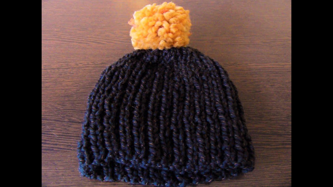 Tricot bonnet bebe aiguille 7