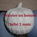 Tricot bonnet bebe debutant