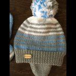 Tricot bonnet bébé 12 mois