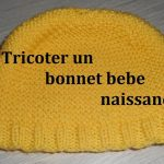 Tricot bonnet bébé simple