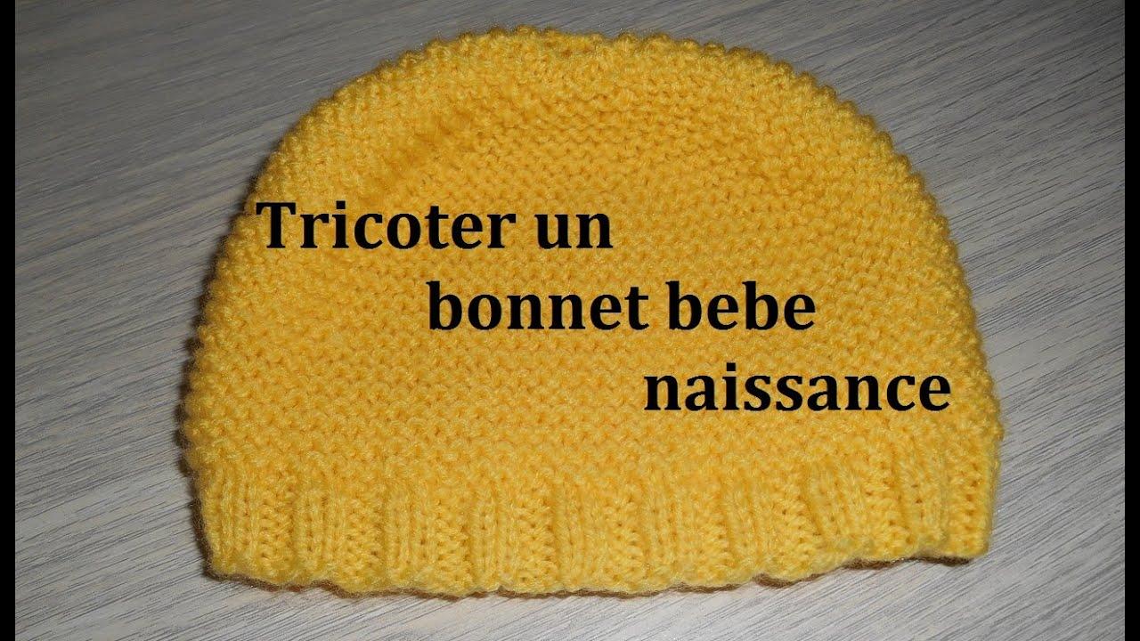 Tricot bonnet bébé simple
