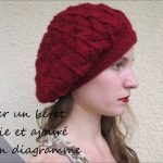 Tricot bonnet beret femme