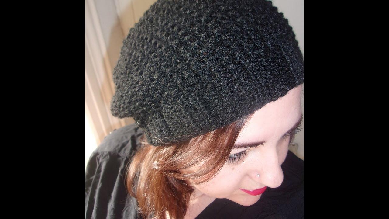 Modele tricot bonnet tombant femme