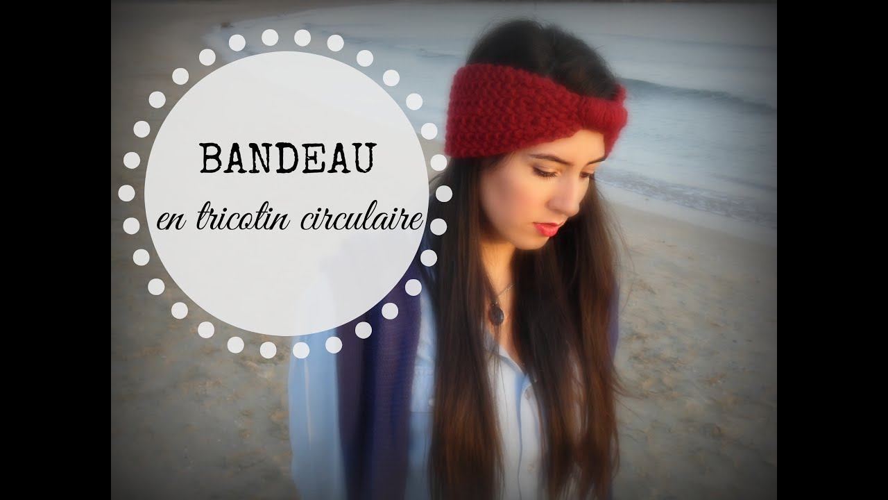 Tricot bandeau point de riz