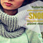 Tricoter en rond un snood