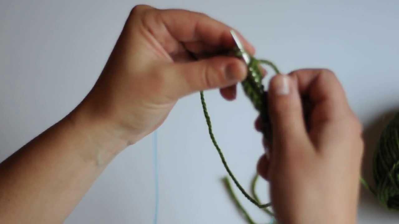 Tricoter un echantillon en rond