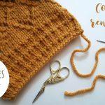 Apprendre tricoter finition
