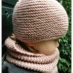 Tricot bonnet naissance débutant
