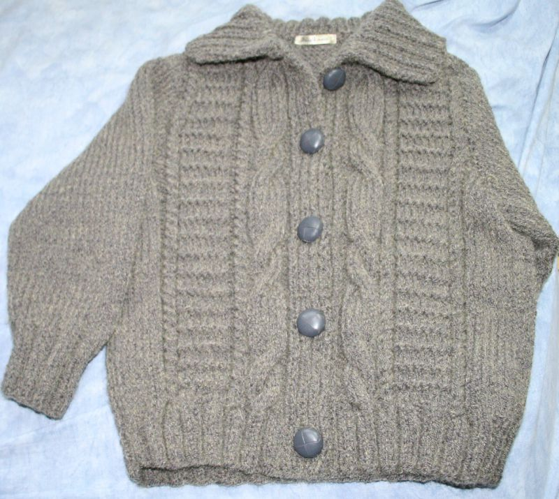Tricot gilet fille 4 ans