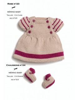 Explication tricot robe bébé gratuit