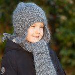 Tricot bonnet peruvien bébé