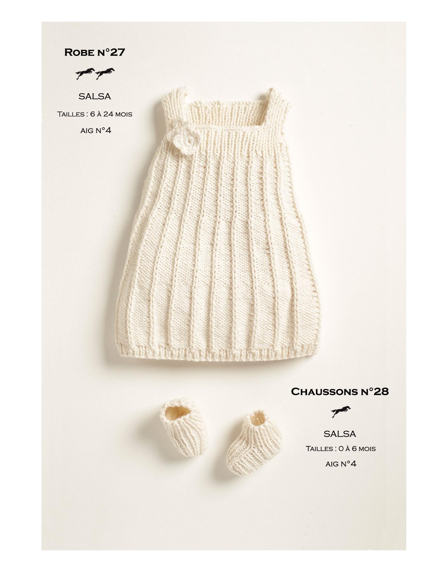 Patron robe tricot bébé gratuit