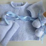 Tricot brassière laine bébé