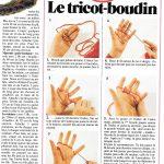 Que tricoter avec les doigts