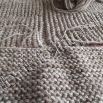 Assemblage tricot manche point mousse