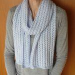 Point tricot ajouré pour écharpe