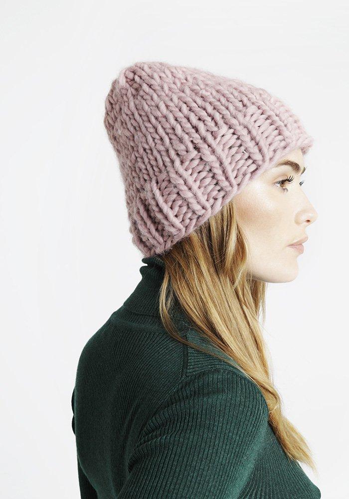 Tricot bonnet femme grosse laine