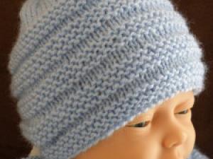 Tricot bonnet bébé patron gratuit