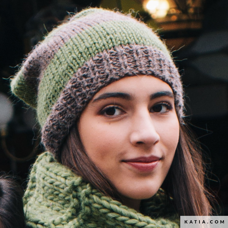 Tricot bonnet femme katia