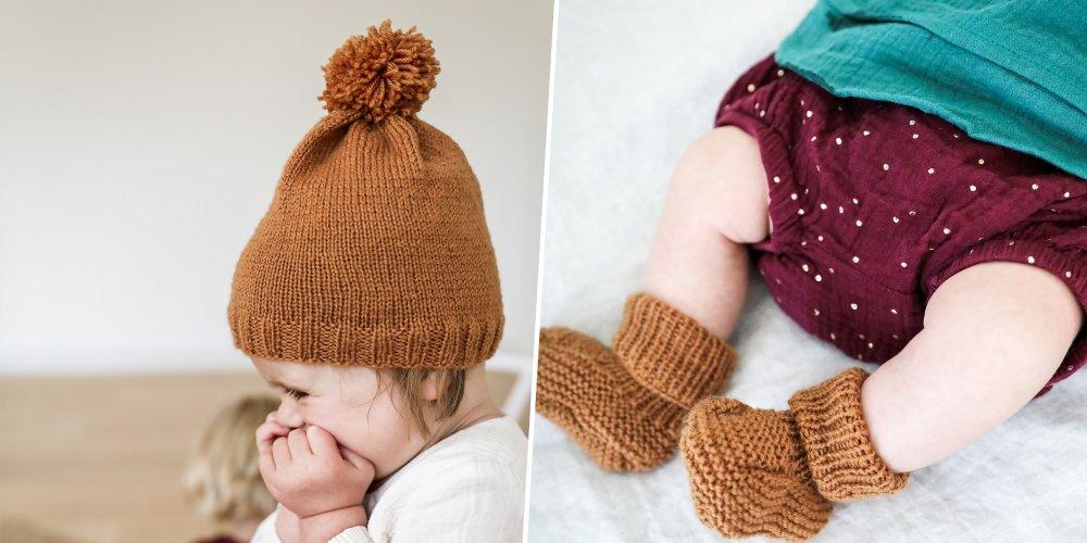 Tricot bonnet bébé sans couture