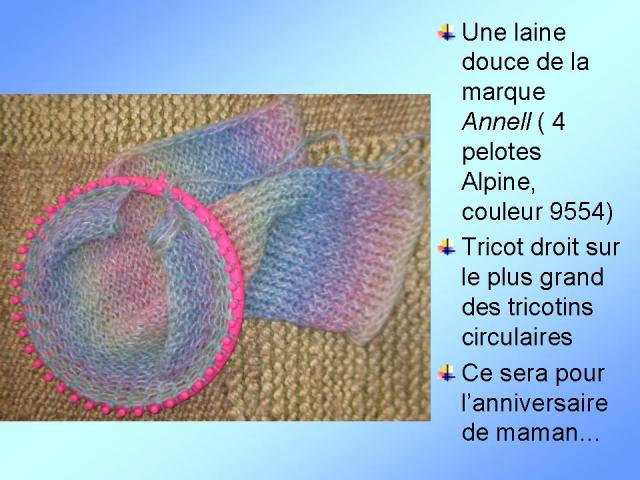 Tricoter tricotin rond