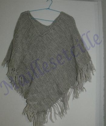 Apprendre tricoter poncho