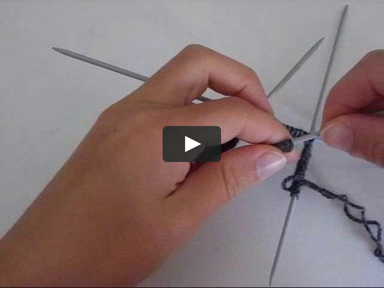 Tricoter rond aiguilles double pointes