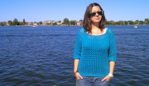 Tricot pull ajoure ete