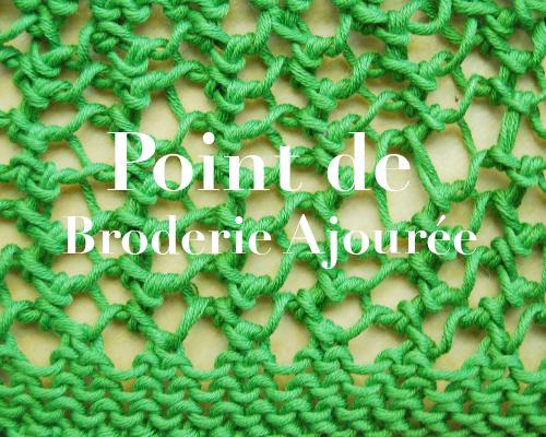 Tricoter en ajourée