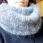 Tricoter une echarpe en rond