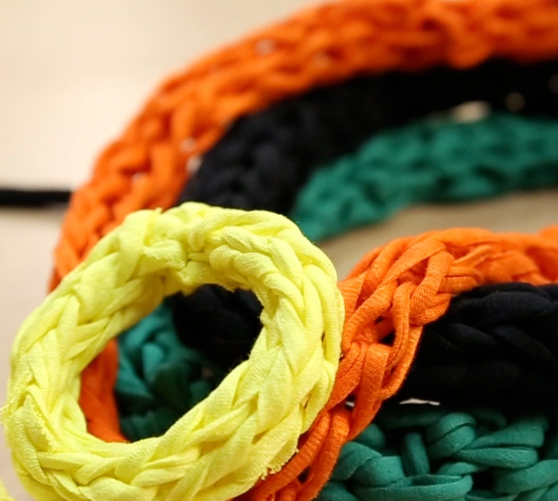 Tricoter avec des doigts