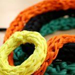 Bracelet tricoté avec les doigts