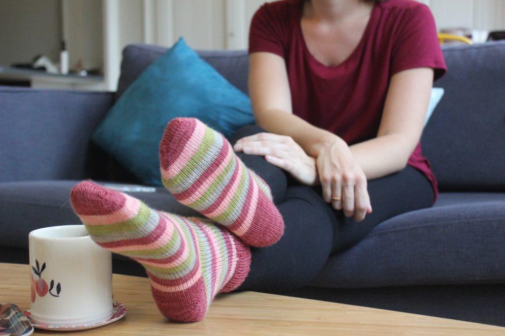 Apprendre tricoter chaussettes