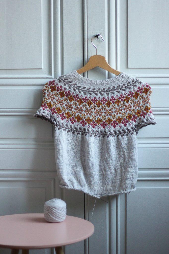 Tricoter en rond changement couleur