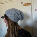 Tricot bonnet femme simple