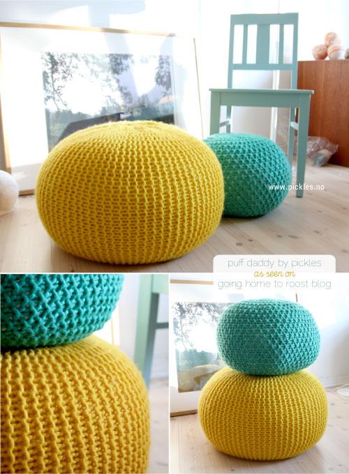 Tricoter pouf rond