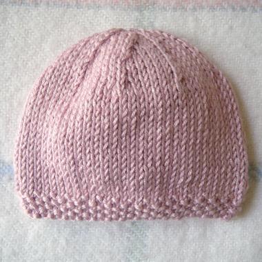 Tricot bonnet bébé tuto