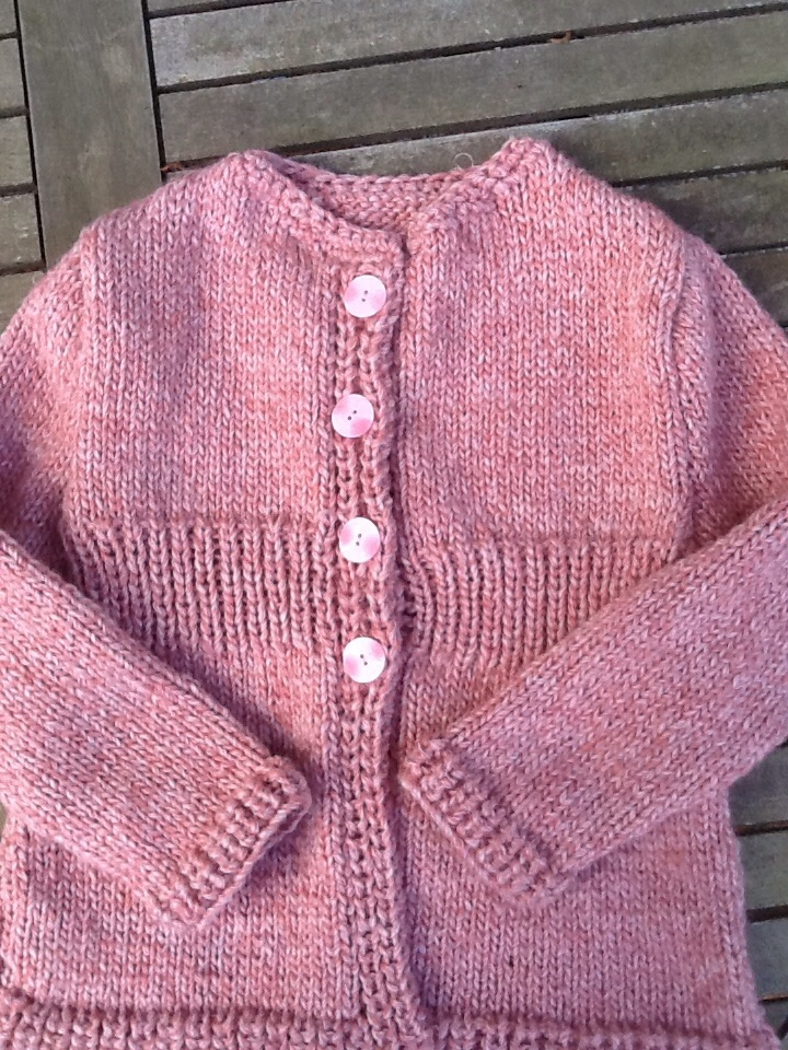 Tricot gilet fille 8 ans
