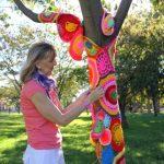 Tricoter autour d'un arbre